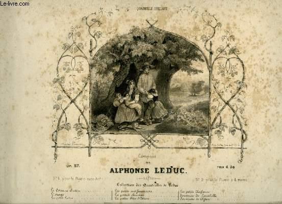 L'ORAGE - QUADRILLE BRILLANT POUR PIANO A 4 MAINS.
