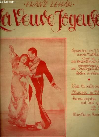 LA VEUVE JOYEUSE - N°7 BIS : CHANSON DE VILYA TON ORIGINAL SOPRANO - POUR PIANO ET CHANT AVEC PAROLES EN FRANCAIS.