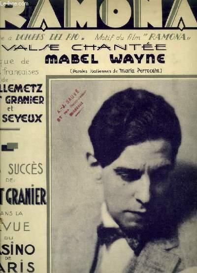 RAMON - WALTZ SONG POUR PIANO ET CHANT AVEC PAROLES FRANCAISES ET ITALIENNES.