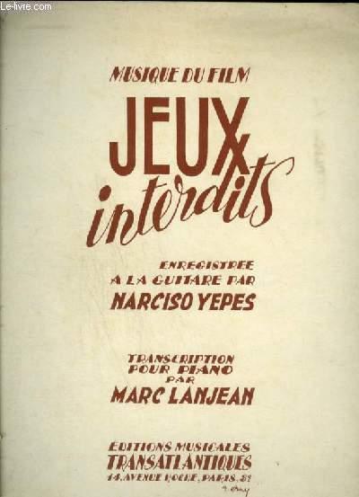 JEUX INTERDITS + SARABANDE + BOUREE + CHANSON POPULAIRE - ROMANCE POUR PIANO (MUSIQUE DU FILM).