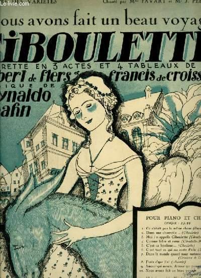 CIBOULETTE N°10 : NOUS AVONS FAIT UN BEAU VOYAGE - PIANO ET CHANT AVEC PAROLES.