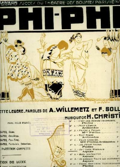 PHI PHI - N°7 : AH ! CHER MONSIEUR - PIANO ET CHANT AVEC PAROLES.