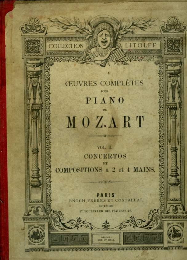 OEUVRES COMPLETES POUR PIANO - VOLUME 1 : SONATES ET AIRS VARIES + VOLUME  : CONCERTOS ET COMPOSITIONS A  ET MAINS
