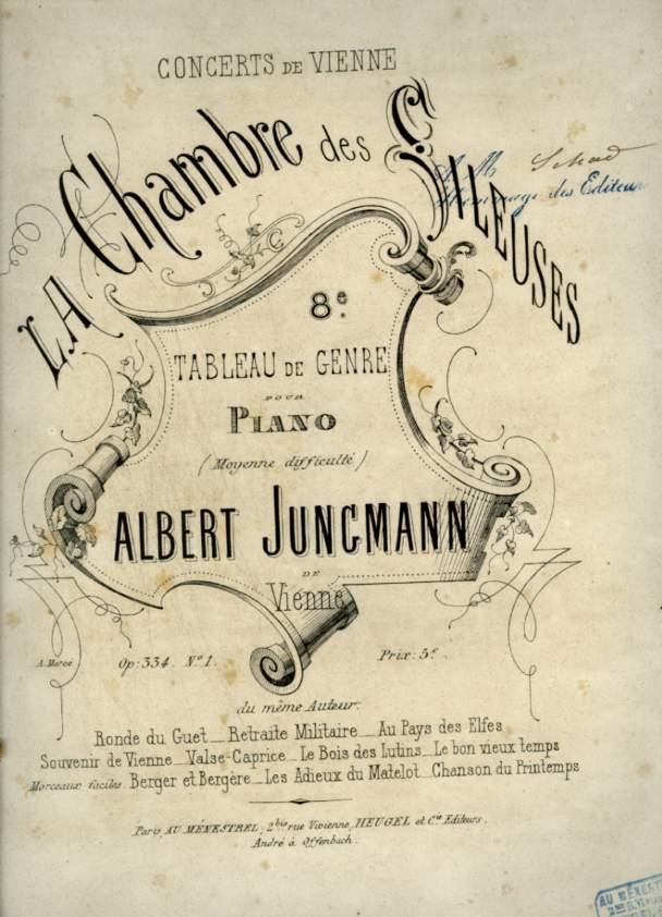 LA CHAMBRE DES FILEUSES / IN DER SPINNSTUBE - OP.334 N°1 / 8° TABLEAU DE GENRE POUR PIANO (MOYENNE DIFFICULTE).