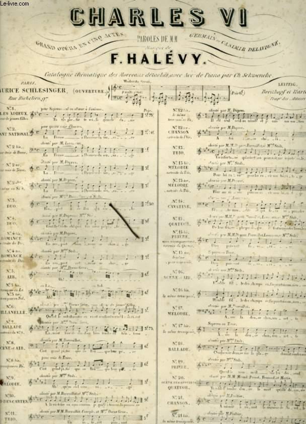 CHARLES VI - BALLADE POUR PIANO ET CHANT AVEC PAROLES.