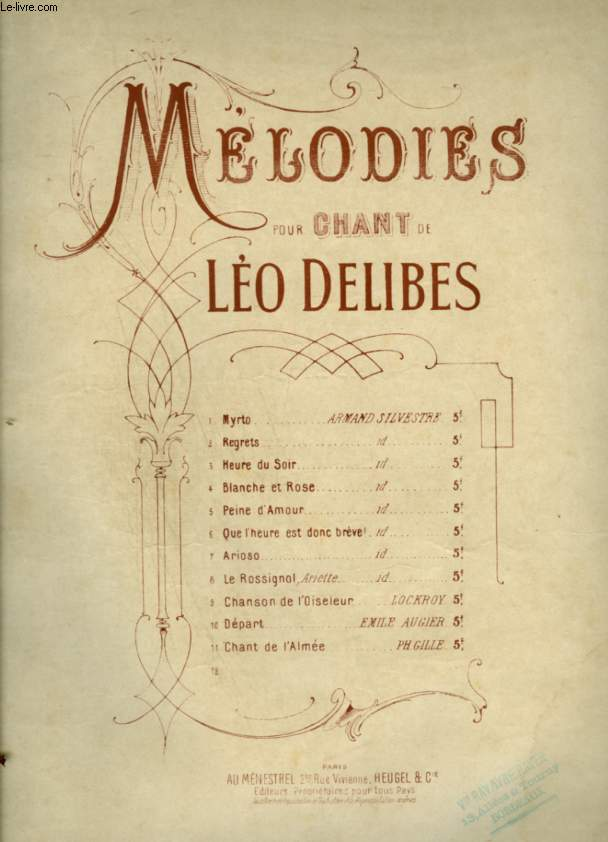 MELODIES POUR CHANT + PIANO - N°15 : ARIOSO.