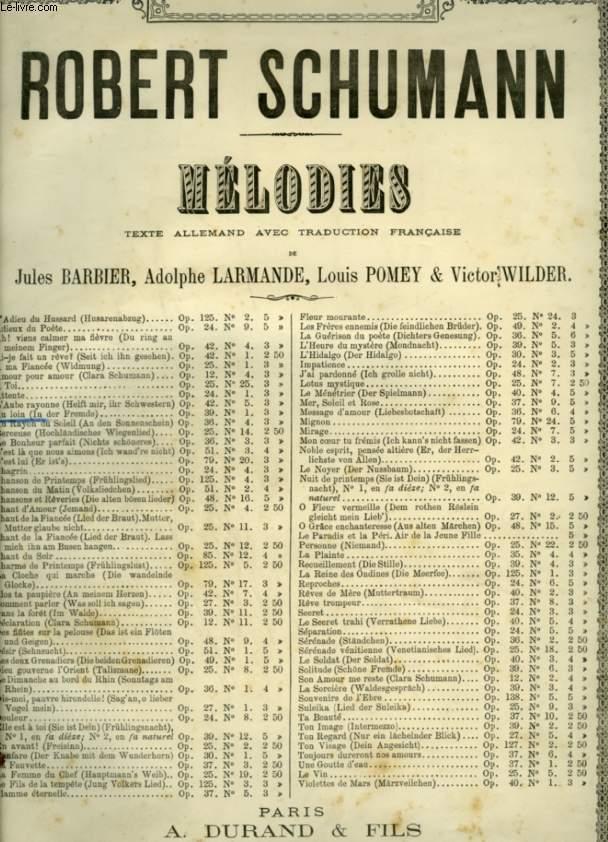 AU LOIN / IN DER FREMDE - POUR PIANO ET CHANT AVEC PAROLES FRANCAISES ET ALLEMANDES - OP.39 N°1.
