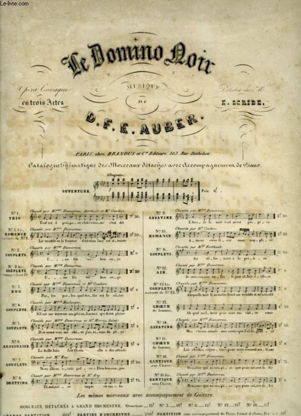 LE DOMINO NOIR - N°12 : AIR POUR PIANO ET CHANT AVEC PAROLES.