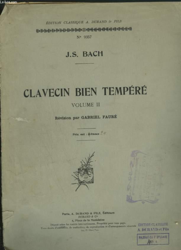 LE CLAVECIN BIEN TEMPERE - VOL. 2.