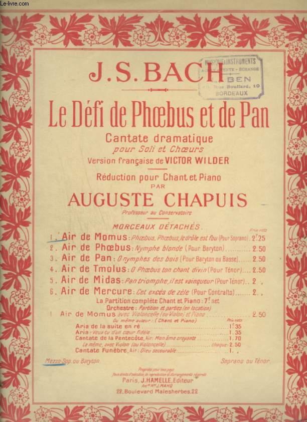 LE DEFI DE PHOEBUS ET DE PAN - N°1 : AIR DE MOMUS - POUR PIANO ET CHANT AVEC PAROLES - EDITION POUR MEZZO SOPRANO OU BARYTON.