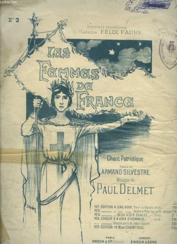 LES FEMMES DE FRANCE - CHANT PATRIOTIQUE POUR PIANO ET CHANT.