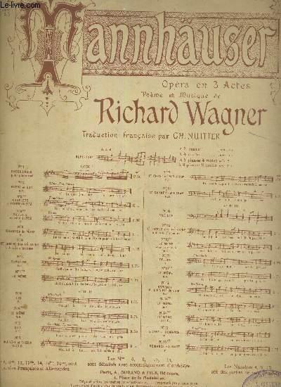 TANNHAUSER N13 - PRIERE D'ELISABETH - OPERA EN 3 ACTES - TRADUCTION FRANCAISE PAR CH. NUITTER