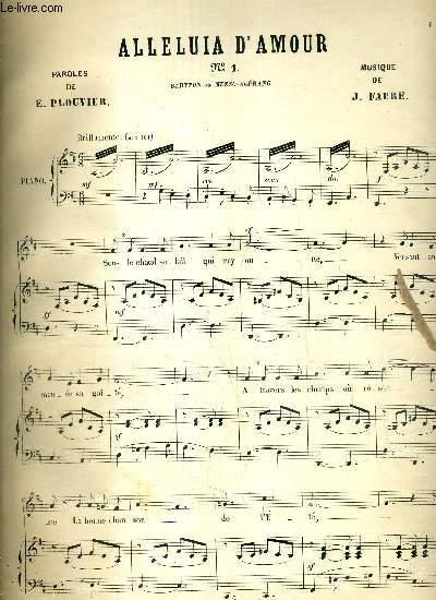 ALLELUIA D4AMOUR N°1  -BARYTON OU MEZZO-SOPRANO - PAROLES DE E. PLOUVIER