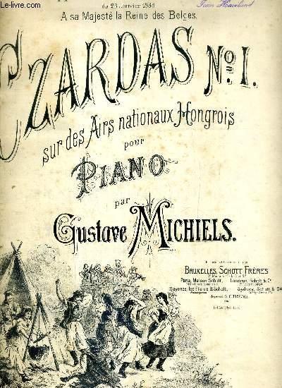 CZARDAS N°1 : SUR DES AIRS NATIONEAUX HONGROIS POUR PIANO
