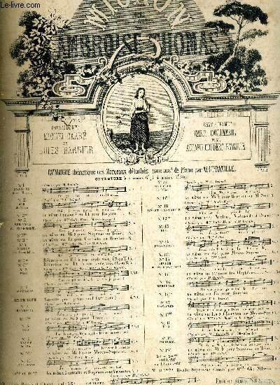 MIGNON N°17BIS - OPERA COMIQUE 5 ACTES, 5 TABLEAUX - PAROLES DE M. CARRE ET J. BARBIER