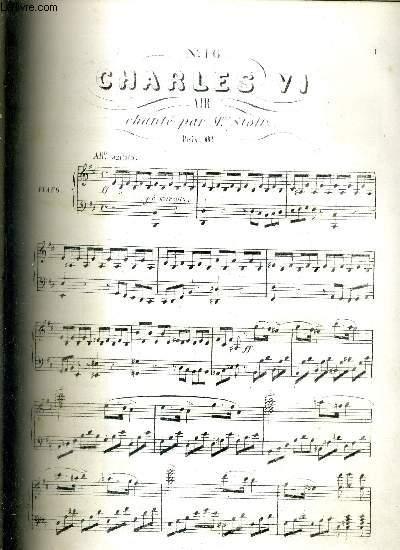 CHARLES VI - GRAND OPERA EN 5 ACTES - CHANTEE PAR Mme STOLTZ - N°16 - BALLADE
