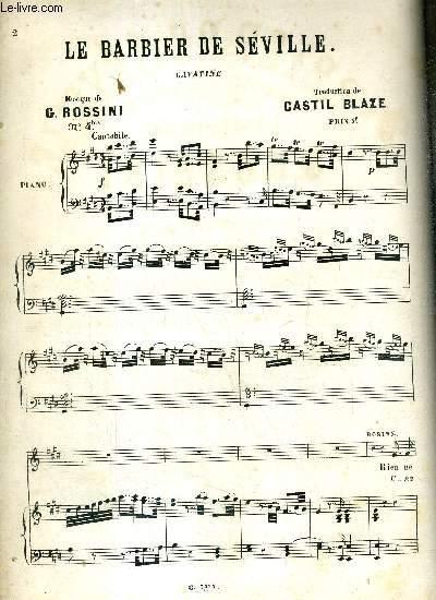 LE BARBIER DE SEVILLE - CAVATINE - N°4bis - OPERA BOUFFE