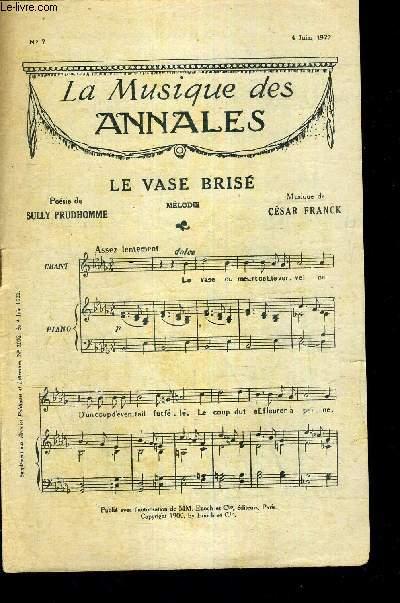 LA MUSIQUE DES ANNALES - LE VASE BRISE - 12E CONCERTO POUR VIOLON ET PIANO DE VIVALDI N°7