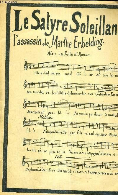 LE SATYRE SOLEILLAND - L'ASSASSIN DE MARTHE ERBELDING