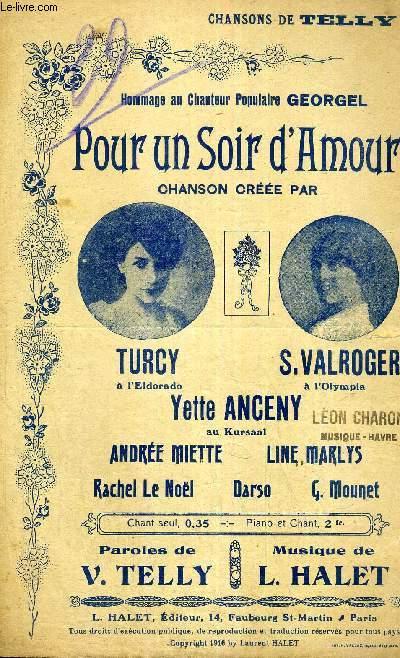POUR UN SOIR D'AMOUR - CHANSON VECUE