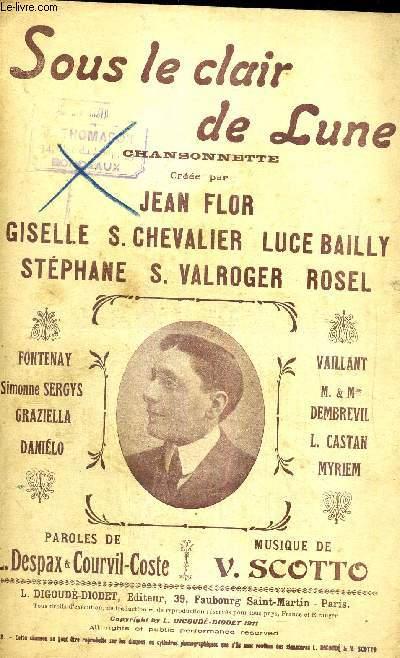 SOUS LE CLAIR DE LUNE - DICTION  - CHANSONNETTE