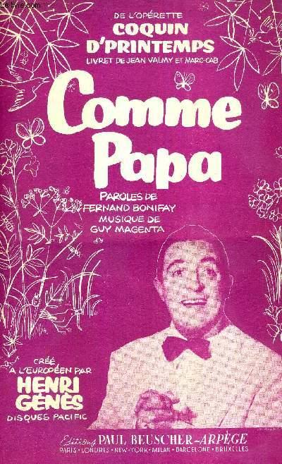 COMME PAPA - FOX MARCHE DE L'OPERETTE