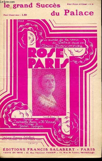 ROSE PARIS - LE SUCCES DE LA REVUE DU PALACE