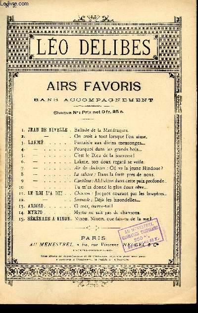 LAKME - N°3 - AIR CHANTE PAR Mr TALAZAC