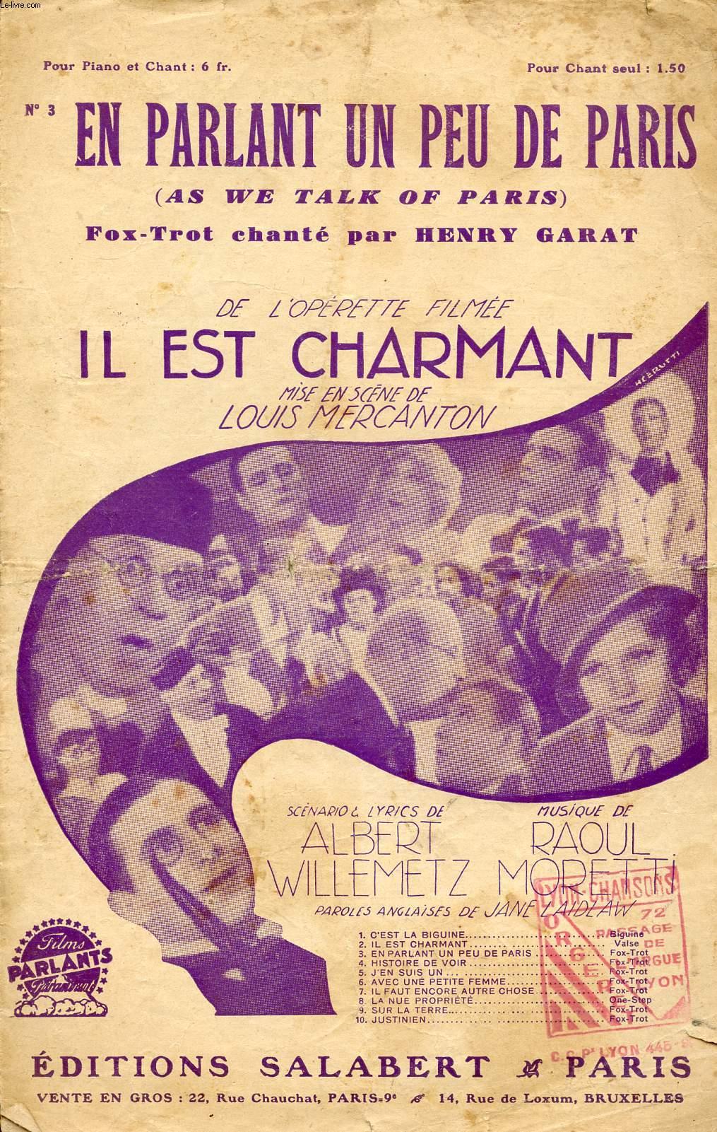 EN PARLANT UN PEU DE PARIS - FOX TROT CHANTE N°3