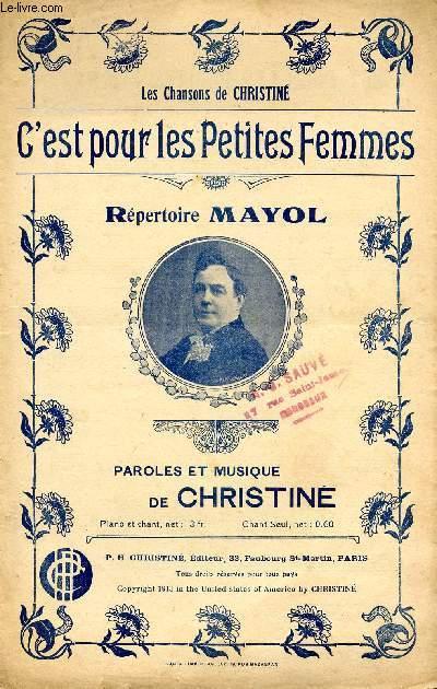 C'EST POUR LES PETITES FEMMES - REPERTOIRE MAYOL