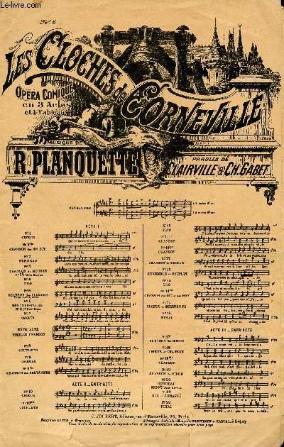 LES CLOCHES DE CORNEVILLE - N°6 - OPERA COMIQUE EN 3 ACTES