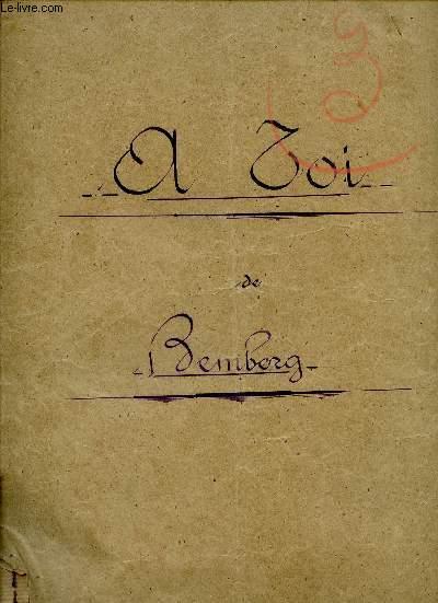 A TOI ! - N°2 EDITION EN SOL - PAROLES DE CH. FUSTER