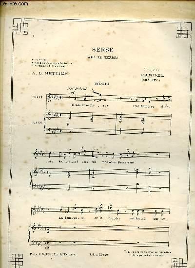 SERSE - AIR DE SERSE - RECIT PIANO