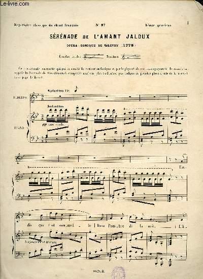SERENADE DE L'AMANT JALOUX - OPERA COMIQUE - N°97