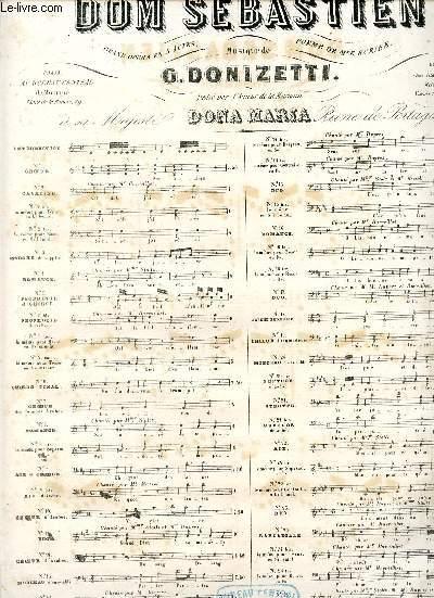 DOM SEBASTIEN - N°4 - ROMANCE CHANTEE PAS Mme STOLTZ