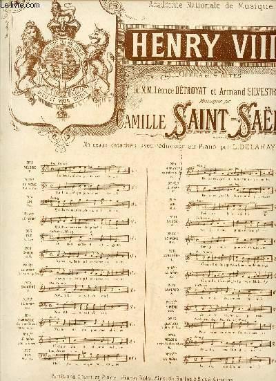HENRY VIII - OPERA EN 4 ACTES - MELODIE - N°1bis