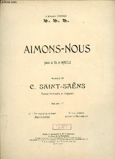 AIMONS-NOUS - A MONSIEUR VERGNET  - TENOR OU  SOPRANO