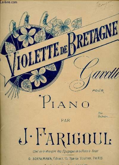 VIOLETTE DE BRETAGNE - GAVOTTE POUR PIANO