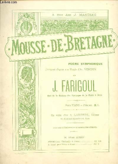 MOUSSE DE BRETAGNE - A MON AMI J. MARTEAU - POEME SYMPHONIQUE