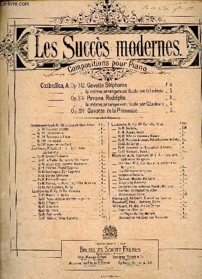 GAVOTTE STEPHANIE OP312 - LES SUCCES MODERNES - COMPOSITIONS POUR PIANO