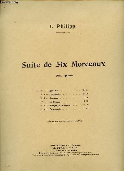 SUITE DE SIX MORCEAU POUR PIANO - N°1 MELODIE