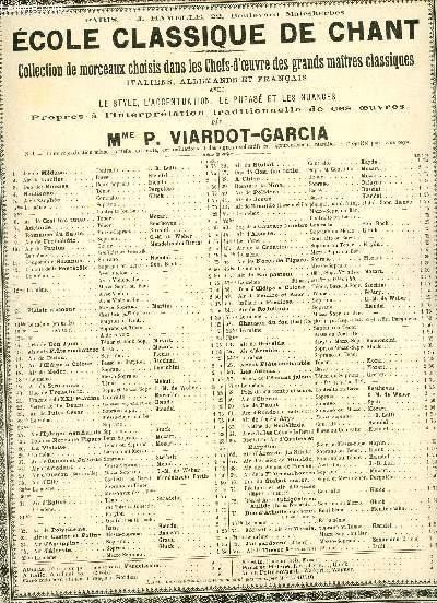 CANTATE DE LA PENTECOTE - ECOLE CLASSIQUE DE CHANT - N°12