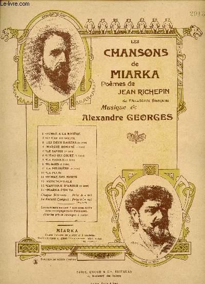 LES CHANSONS DE MIARKA - NUAGES - N°8 - EDITION POUR BARYTON OU MEZZO-SOPRANO