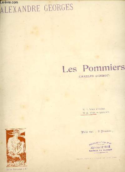 LES POMMIERS - N°2 VOIX MOYENNES - A MADAME LA CONTESSE CHARLES D'OSMOY