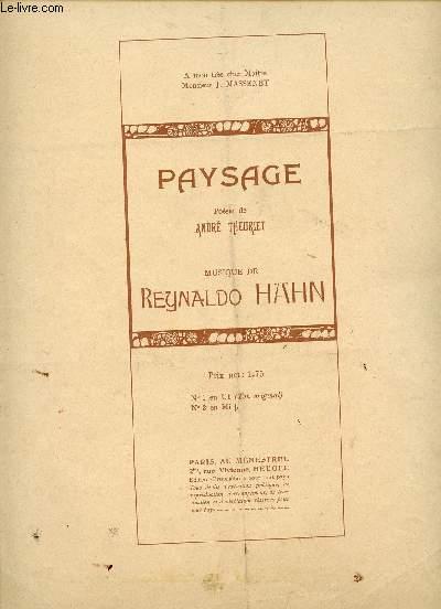 PAYSAGE - N°1 TON ORIGINAL - A MON TRES CHER MAITRE MONSIEUR J. MASSENET