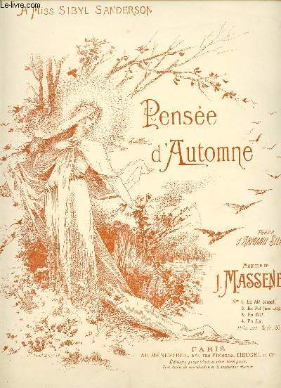 PENSEE D'AUTOMNE - A MISS SIBYL SANDERSON - N°1