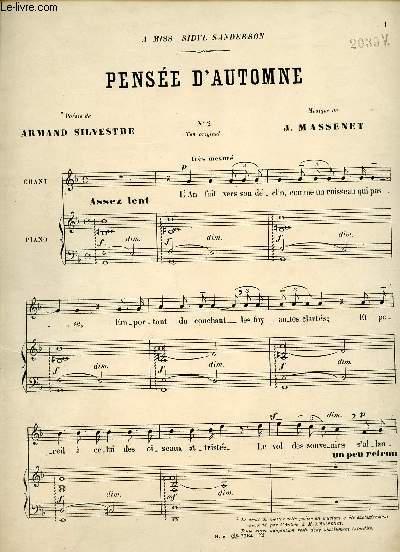 PENSEE D'AUTOMNE - A MISS SIBYL SANDERSON - N°2 TON ORIGINAL