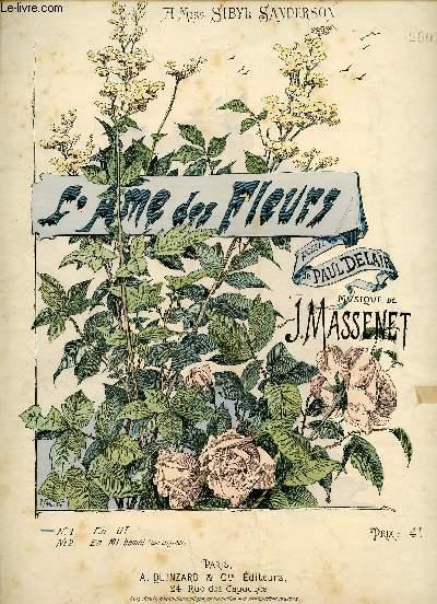 L'AME DES FLEURS - A MISS SIBYL SANDERSON - N°1