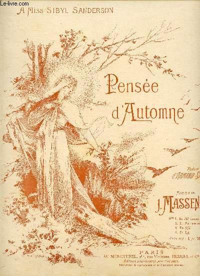 PENSEE D'AUTOMNE - A MISS SIBYL SANDERSON - N°4
