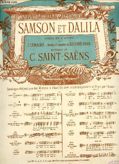 SAMSON ET DALILA - OPERA EN 3 ACTES - N°6bis